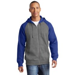 Adult Raglan Full Zip Sweatshirt Thumbnail