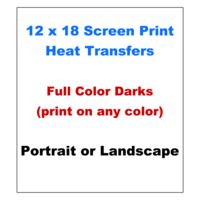 12x18 Full Color Screen Print Transfers (Print On Any Color Garment) Thumbnail